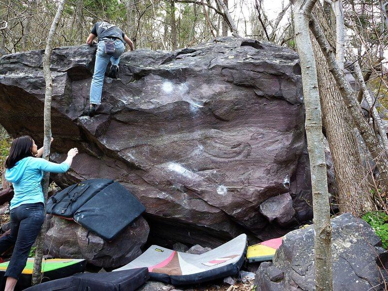 Rock Climbing Photo: Exit moves.