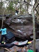 Rock Climbing Photo: Done!  Ian on the FA.