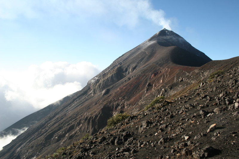 Fuego as seen from the ridge joining it to Acatenango.