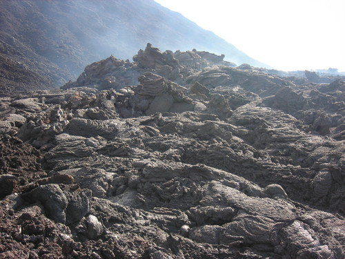 Some of the lava flows you can expect to scramble over as you climb the volcano.