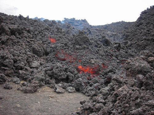 Lava flow beneath the old Cerro Chino cone.