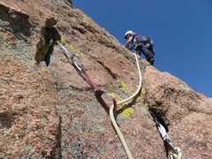 Rock Climbing Photo: Starting the last pitch.