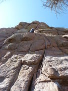 "Rock Climbing Photo: At the good rest on the ""mantle"" ledge. ..."