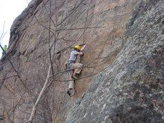 Rock Climbing Photo: Ken on route.
