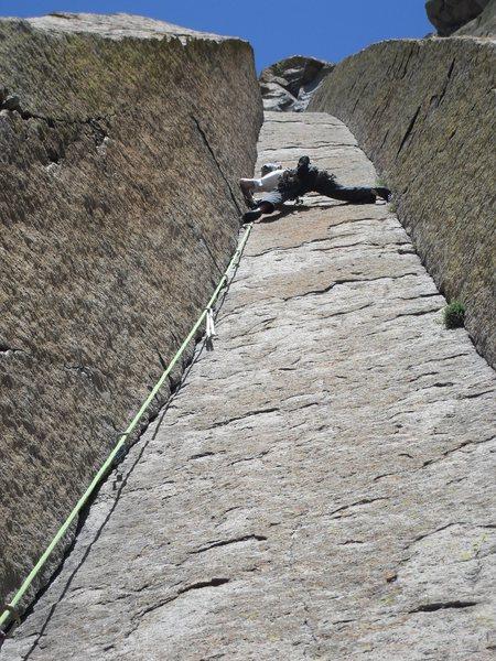 Rock Climbing Photo: Tim leadin' this beast