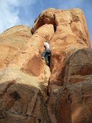 Rock Climbing Photo: Back up