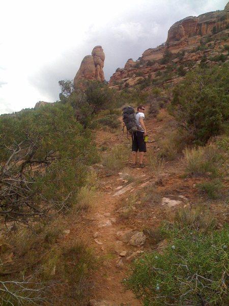 Rock Climbing Photo: Hikin' in