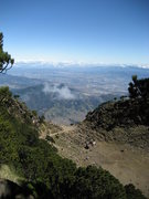Rock Climbing Photo: A look into the crater of Agua. Notice the rim on ...