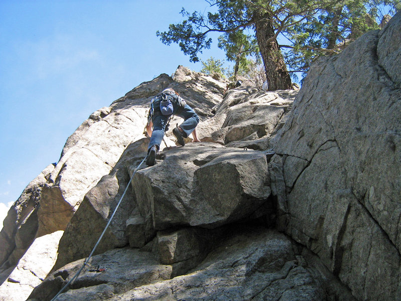 Rock Climbing Photo: Monty on his first lead!