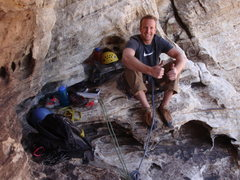Rock Climbing Photo: EJ at the large and comfy 3rd belay.