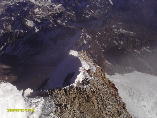 Another shot of the knife ridge approach to the top of Huayna Potosi.