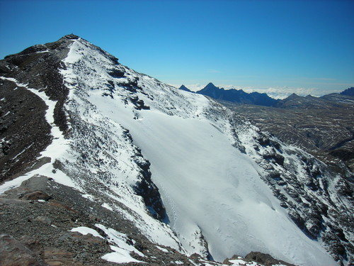 Rock Climbing Photo: Final approach to Nevado Chacaltaya (5395m). This ...