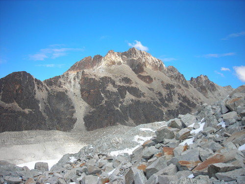 Rock Climbing Photo: View along approach to Potosi refugio.