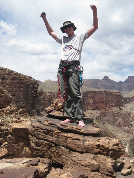 Rock Climbing Photo: Dan on the summit.