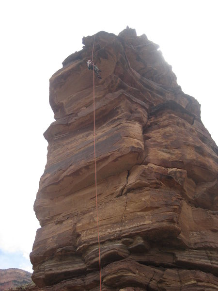 Rock Climbing Photo: The double rope rappel to the ground.