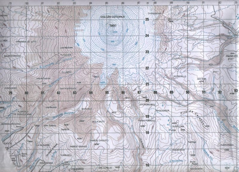Cotopaxi #2: Published by the Instituto Geographico Militar, Quito. Map name: Cotopaxi, Reference number: HOJA 3991-IV. Primary contour intervals are at 40 meters, secondary at 20 meters.