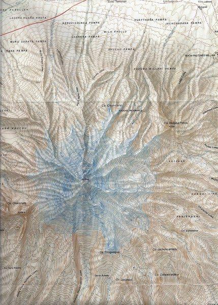 Sajama #01: Map name: Nevado Sajama. Primary contour intervals are at 20 meters.