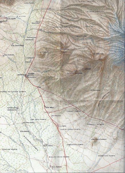 Sajama @POUND@03: Map name: Nevado Sajama. Primary contour intervals are at 20 meters.