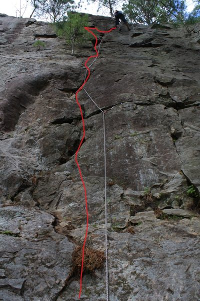 Rock Climbing Photo: Josh Olson after his second lead of The Repentance...