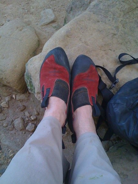 Rock Climbing Photo: Moccasyms...