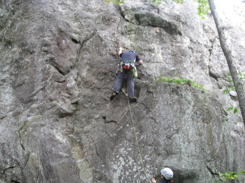 Rock Climbing Photo: Leading a warm up