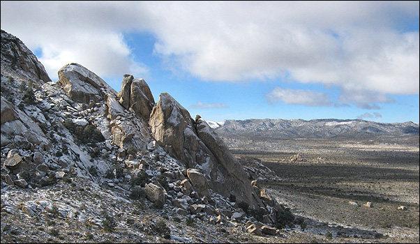 Rock Climbing Photo: Saddle Rocks snow. Photo by Blitzo.