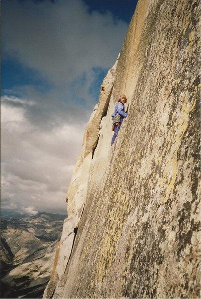 Steve walking the ledge in 1993