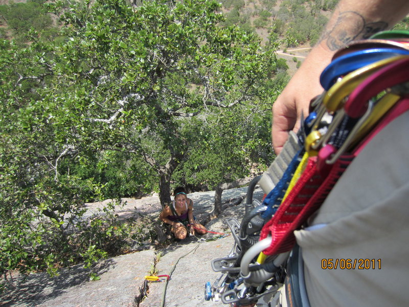 Rock Climbing Photo: on second pitch walter funkite