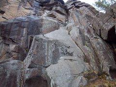 Rock Climbing Photo: Scaredy Cat