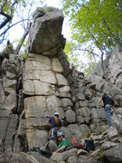 Rock Climbing Photo: The Prow at the boyscout ledge. 5.7 on face to lef...