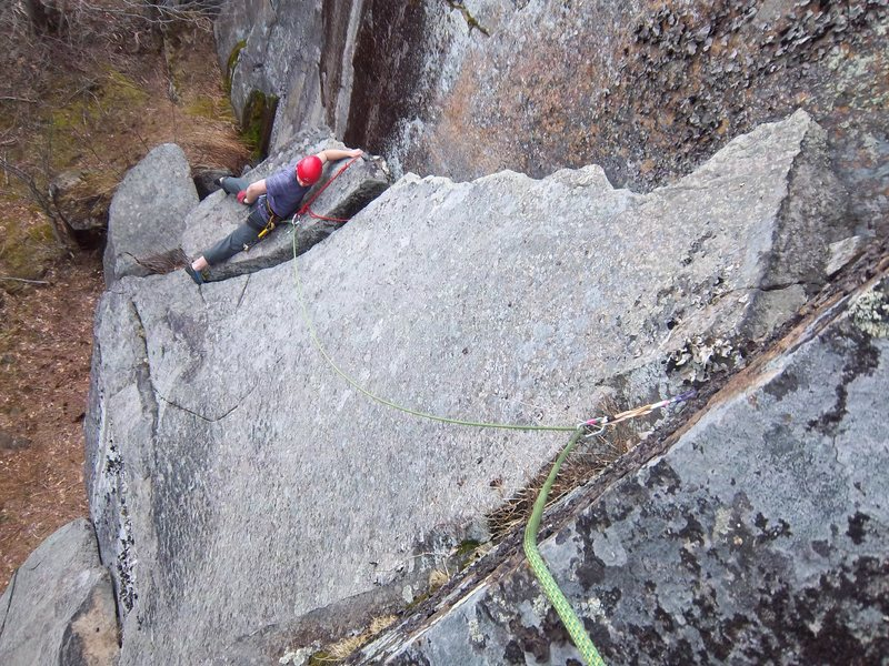 Rock Climbing Photo: Ben Botelho follows Scaredy Cat(5.7)