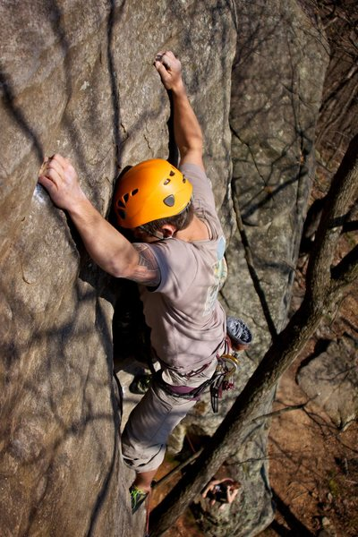 "Rock Climbing Photo: Ryan ""Jungle Dog"" Strong pulls down on t..."