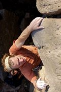 Rock Climbing Photo: A bomber #2 C4 protects this move. Solid route. Ph...