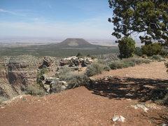 Rock Climbing Photo: Cedar Mountain as seen from Desert View.