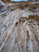 Rock Climbing Photo: These tufas stick out from the wall 6-10 inches.  ...