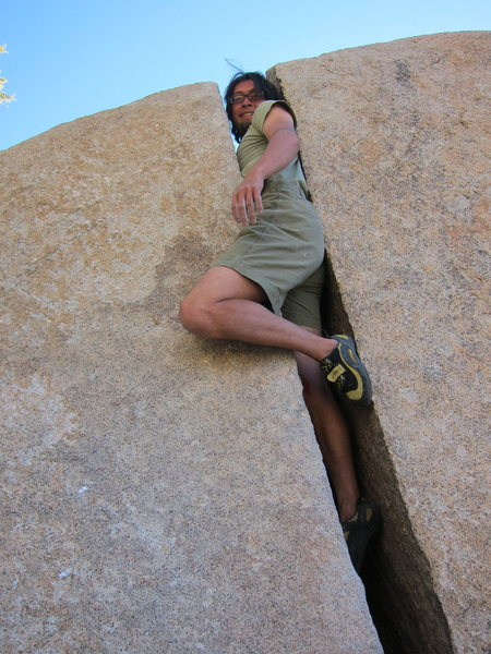 Rock Climbing Photo: 3 minutes into the problem...