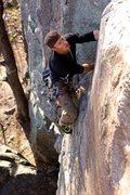 Rock Climbing Photo: Josh in the upper crack of Tarantula.
