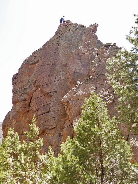 Rock Climbing Photo: Dovercourt, Lower Sun Tower, Unaweep Canyon.