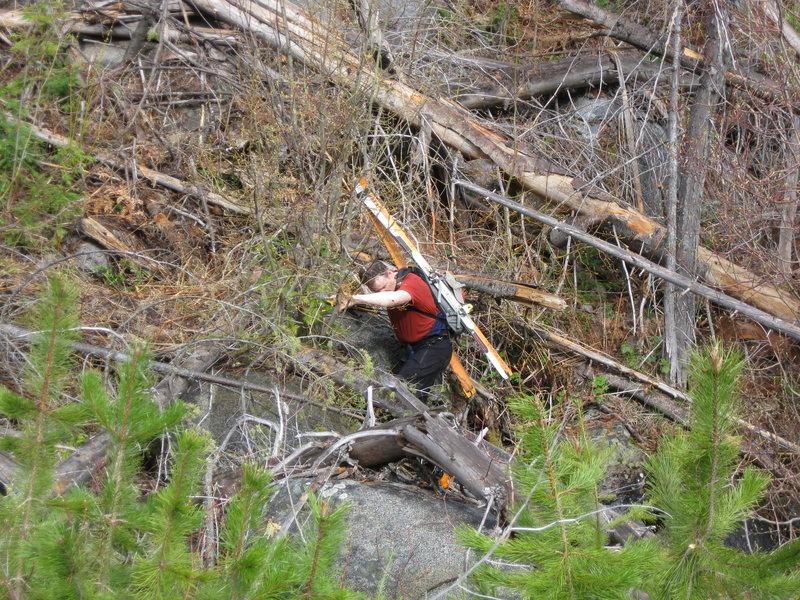 Rock Climbing Photo: Bushwak!!