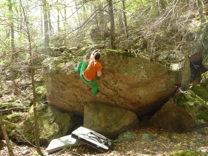 teeter totter boulder on entry to back of beyond area