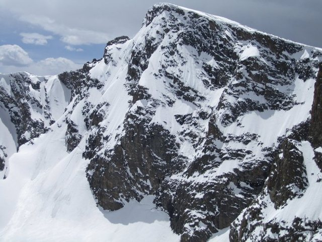 The east face of Taylor Peak on May 7th, 2011.