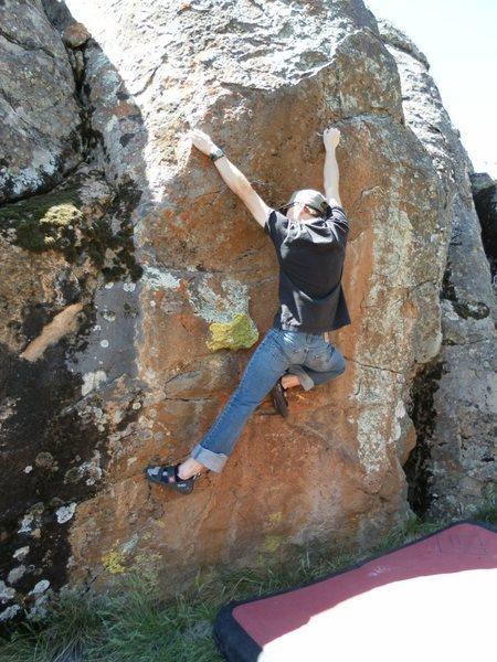 Rock Climbing Photo: Jono on FA