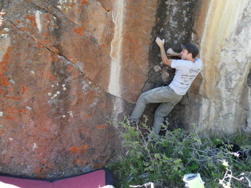Rock Climbing Photo: Start of the traverse