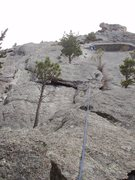 Rock Climbing Photo: First pitch (supposed to go around the left side o...