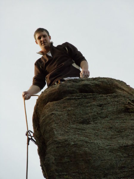 Rock Climbing Photo: Up on Banana Tower, in CW Canyon