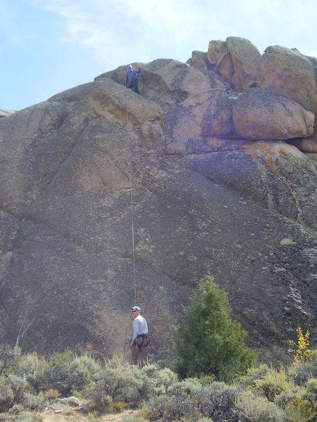Rock Climbing Photo: Climbing The Riddler, 5.9.