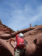 Rock Climbing Photo: a bit of scrambling in the slot canyon