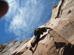 Rock Climbing Photo: me climbing both times diffret times of the year.