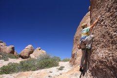 Rock Climbing Photo: Scott on 34 of 40