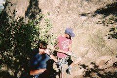 Rock Climbing Photo: Getting ready to climb Valley Girl, 5.6.